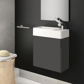 Cosmic fancy Waschtisch mit Unterschrank mit 1 Tür weiß matt, anthrazit