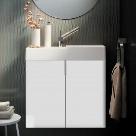 Cosmic fancy Waschtisch mit Unterschrank mit 2 Türen weiß matt, weiß matt