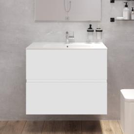Cosmic Mod Waschtisch mit Waschtischunterschrank mit 2 Auszügen Front weiß matt / Korpus weiß matt