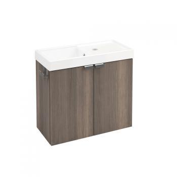 Cosmic b-box Waschtisch mit Waschtischunterschrank mit 2 Türen Front esche / Korpus esche