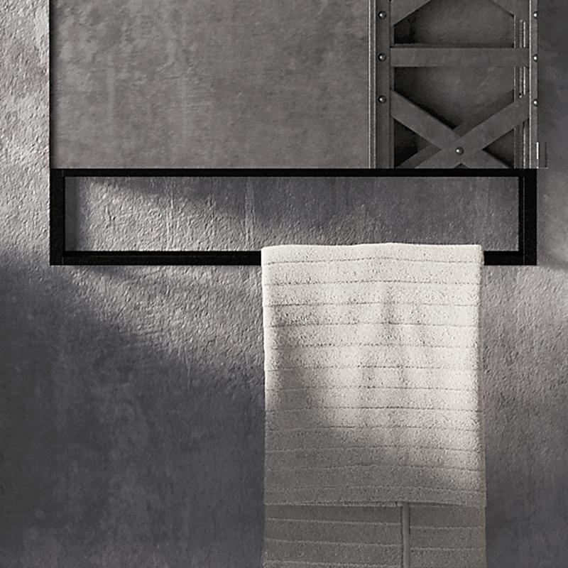 Cosmic The Grid Handtuchhalter mit Ablage schwarz matt