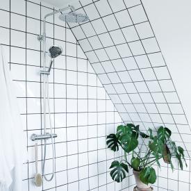 Damixa Bell Thermostat Duschsystem mit Metallbrauseschlauch