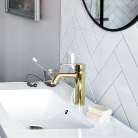 Damixa Silhouet Einhebel-Waschtischarmatur medium ohne Ablaufgarnitur, messing