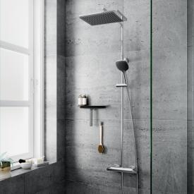 Damixa Slate 4 Thermostat Duschsystem mit Metallbrauseschlauch