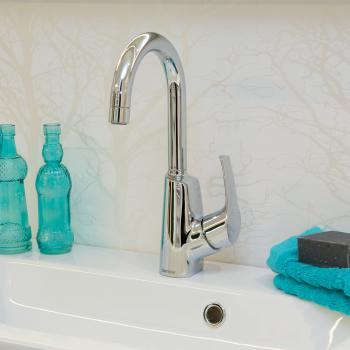 Damixa Rowan Einhebel-Waschtischarmatur Cold-Start, mit Ablaufgarnitur