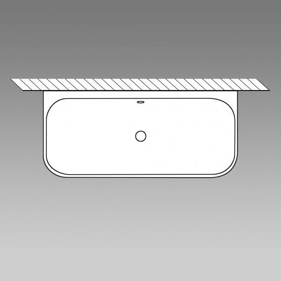 Villeroy & Boch Oberon 2.0 Vorwand-Badewanne mit Verkleidung weiß