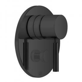 Dornbracht Meta Unterputz-Einhandbatterie mit Umstellung schwarz matt