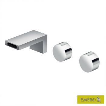Dornbracht Deque Waschtisch-Wandbatterie mit Einzelrosetten Ausladung: 125 mm, chrom