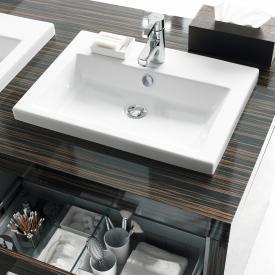 Duravit 2nd Floor Einbauwaschtisch weiß, mit WonderGliss, mit 1 Hahnloch