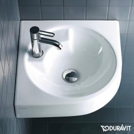 Duravit Architec Eck-Waschtisch weiß, mit WonderGliss, mit 1 Hahnloch