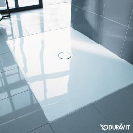 Duravit DuraPlan bodenbündige Rechteck-Duschwanne weiß