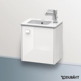 Duravit Brioso Handwaschbeckenunterschrank mit 1 Tür Front weiß hochglanz/Korpus weiß hochglanz, Griff weiß hochglanz