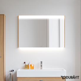 Duravit Brioso Spiegel mit LED-Beleuchtung europäische eiche