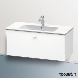 Duravit Brioso Waschtischunterschrank mit 1 Auszug Front weiß matt/Korpus weiß matt, Griff weiß matt