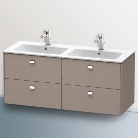 Duravit Brioso Waschtischunterschrank für Doppelwaschtisch mit 4 Auszügen Front basalt matt/Korpus basalt matt, Griff chrom