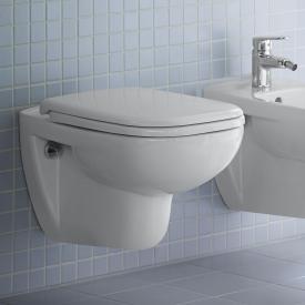 Duravit D-Code Wand-Tiefspül-WC Set, mit WC-Sitz ohne Spülrand, weiß