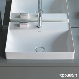 Duravit DuraSquare Aufsatzwaschtisch weiß, mit WonderGliss, mit 1 Hahnloch