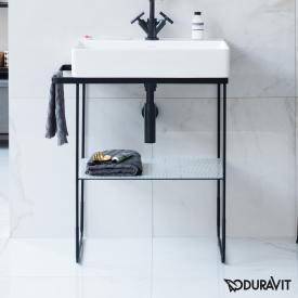 Duravit DuraSquare Metallkonsole bodenstehend für Waschtische Compact schwarz matt