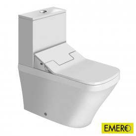 Duravit DuraStyle Stand-Tiefspül-WC Set, mit NEUEM SensoWash Slim WC-Sitz und Spülkasten weiß, Spülkasten mit Anschluss rechts oder links