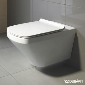 Duravit DuraStyle Wand-Tiefspül-WC Set, mit WC-Sitz ohne Spülrand, weiß, mit WonderGliss