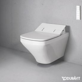 Duravit DuraStyle Wand-Tiefspül-WC mit NEUEM SensoWash® Slim WC-Sitz, Set mit Spülrand, weiß
