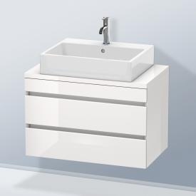 Duravit DuraStyle Waschtischunterschrank für Konsole Compact mit 2 Auszügen Front weiß hochglanz / Korpus weiß hochglanz