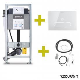 Duravit DuraSystem A2 SET WC-Element, Drückerplatte & Schnittstellenmodul, für Starck f Dusch-WC, H: 115 cm