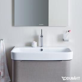 Duravit Happy D.2 Möbelwaschtisch weiß, mit WonderGliss,  mit 1 Hahnloch, ungeschliffen