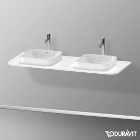 Duravit Happy D.2 Plus Konsole für 2 Aufsatz-/Einbauwaschtische weiß hochglanz