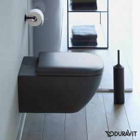 Duravit Happy D.2 Wand-Tiefspül-WC ohne Spülrand, anthrazit, mit WonderGliss