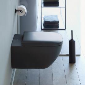 Duravit Happy D.2 Wand-Tiefspül-WC mit WC-Sitz, ohne Spülrand anthrazit, mit WonderGliss