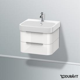 Duravit Happy D.2 Waschtisch mit Waschtischunterschrank mit 2 Auszügen weiß, mit WonderGliss, mit 1 Hahnloch