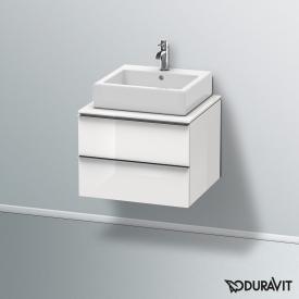 Duravit Happy D.2 Waschtischunterschrank für Konsole mit 2 Auszügen Front weiß hochglanz / Korpus weiß hochglanz, ohne Einrichtungssystem