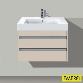 Duravit Ketho Waschtischunterschrank mit 2 Auszügen Front taupe matt / Korpus taupe matt