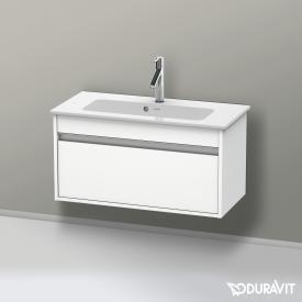 Duravit Ketho Waschtischunterschrank Compact mit 1 Auszug Front weiß matt / Korpus weiß matt