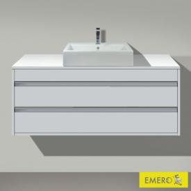 Duravit Ketho Waschtischunterschrank für Aufsatzwaschtisch mit 2 Auszügen Front weiß matt / Korpus weiß matt