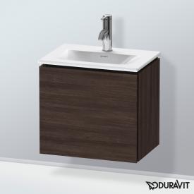Duravit L-Cube Handwaschbeckenunterschrank mit 1 Tür Front kastanie dunkel / Korpus kastanie dunkel