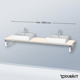 Duravit L-Cube Konsole für 2 Aufsatz-/Einbauwaschtische taupe matt
