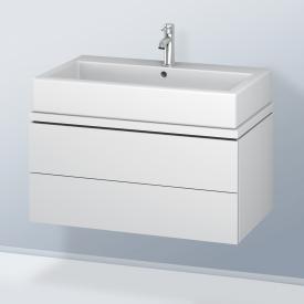 Duravit L-Cube Waschtischunterschrank für Konsole mit 2 Auszügen Front weiß matt / Korpus weiß matt, ohne Einrichtungssystem