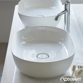 Duravit Luv Aufsatzwaschtisch weiß matt/weiß, mit WonderGliss