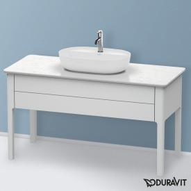 Duravit Luv Waschtischunterschrank für Konsole mit 1 Auszug Front weiß seidenmatt / Korpus weiß seidenmatt, ohne Einrichtungssystem
