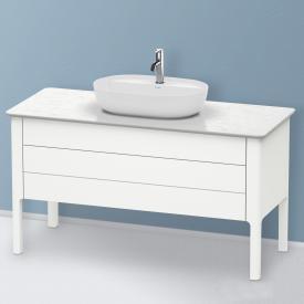 Duravit Luv Waschtischunterschrank für Konsole mit 2 Auszügen Front weiß seidenmatt / Korpus weiß seidenmatt, mit Einrichtungssystem in Ahorn
