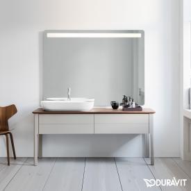 Duravit Luv Waschtischunterschrank für Konsole mit 2 Auszügen Front taupe seidenmatt / Korpus taupe seidenmatt, ohne Einrichtungssystem