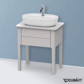 Duravit Luv Waschtischunterschrank für Konsole mit 1 Auszug Front nordic weiß seidenmatt / Korpus nordic weiß seidenmatt
