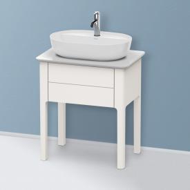 Duravit Luv Handwaschbeckenunterschrank für Konsole mit 1 Auszug Front nordic weiß seidenmatt / Korpus nordic weiß seidenmatt