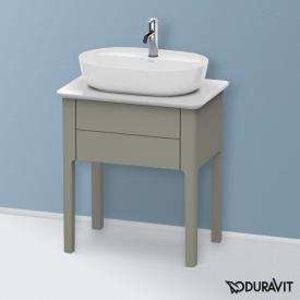 Duravit Luv Waschtischunterschrank für Konsole mit 1 Auszug Front steingrau seidenmatt / Korpus steingrau seidenmatt