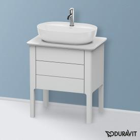 Duravit Luv Waschtischunterschrank für Konsole mit 2 Auszügen Front weiß seidenmatt / Korpus weiß seidenmatt