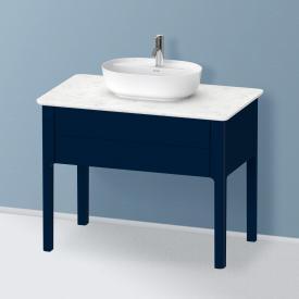 Duravit Luv Waschtischunterschrank für Konsole mit 1 Auszug Front nachtblau seidenmatt/Korpus nachtblau seidenmatt, ohne Einrichtungssystem