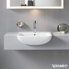 Duravit ME by Starck Halbeinbauwaschtisch weiß, mit 1 Hahnloch