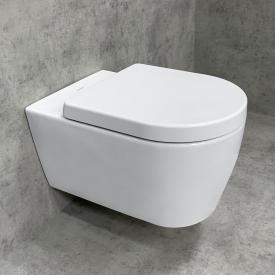Duravit ME by Starck Wand-WC & Tellkamp Premium 4000 WC-Sitz SET: WC ohne Spülrand weiß, mit HygieneGlaze
